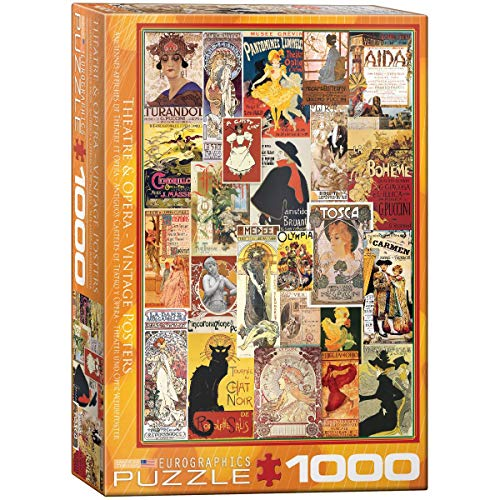 EuroGraphics 15.240–2.374,9cm Oper Theater Vintage Collage Puzzle (1000Teile)