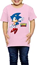 LIJUNQI Sonic The Hedgehog T-shirt voor kinderen, korte mouwen, klassiek modieus shirt, trendy print, uniseks, animatie, s...