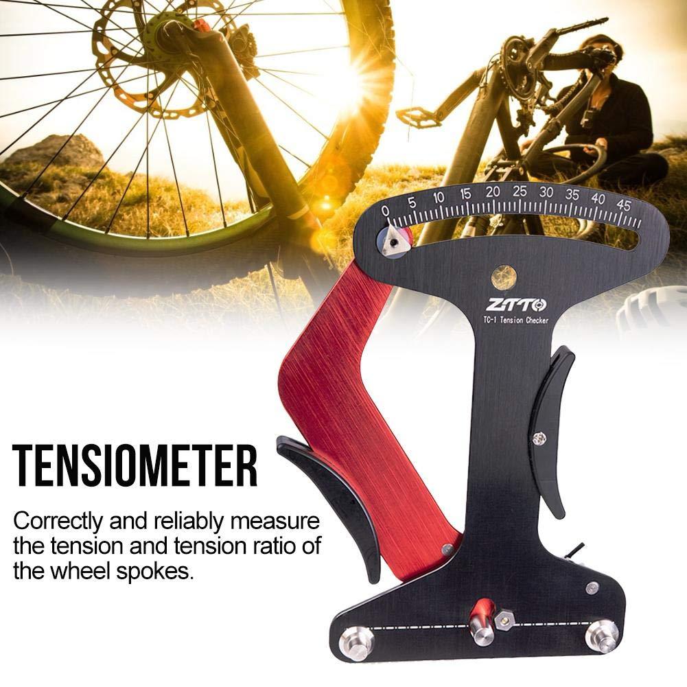 IrahdBowen Tensiómetro de Radios Medidor Universal de Tensión de Bicicleta para Hacer o Corregir El Diagnóstico de Problemas de La Rueda de Rueda Value: Amazon.es: Hogar