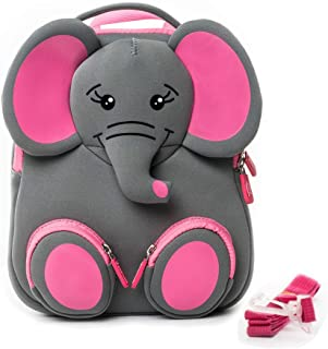 Harness Backpack for Toddlers,Cute Leashes Backpack for Baby Girls and Baby Boys Zoo Animals Preschool Baby Bag - Soft Material,3D Pattern