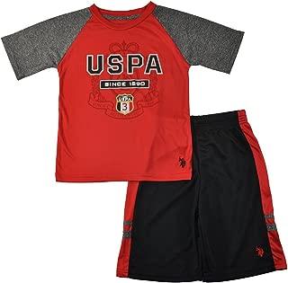 US Polo Assn Boys Red & Black 2pc Mesh Short Set