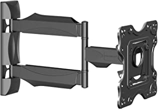 Invision Ultra Slim TV Wall Mount Bracket with 20 Inch Cantilever Arm/1.8 Inch Wall Profile Tilt and Swivel for Most 26-42 Inch LED LCD Plasma 3D & 4K Screens (HDTV-M)