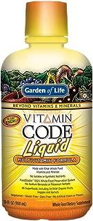 Garden of Life Multivitamin - Vitamin Code Liquid Raw Whole Food Vitamin Supplement, Vegetarian, No Preservatives, Orange Mango, 30oz Liquid