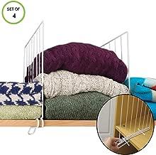 Callas Pack of 4 Closet Wardrobe Shelf Divider Shelves Separator for Closet,