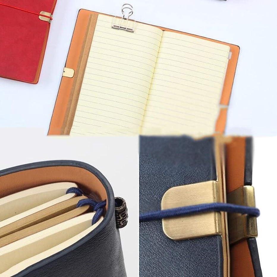 書き込み 旅行日記、ノートブックA6、ハンドブックオフィスレトロクリエイティブ日記帳ビジネス、3個 学生の (Color : Red)