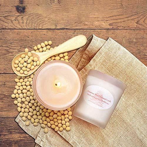 DKEE Velas Velas perfumadas for Regalo Tarro de Vidrio Esmerilado Velas de aromaterapia Cera de Soja Sin Humo Una Variedad de sabores Mixtos Conjunto de 6