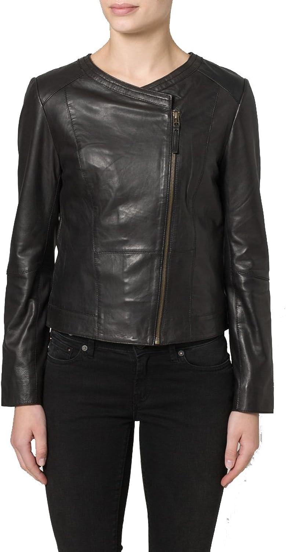 New Women Motorcycle Black Lambskin Leather Jacket Coat Size XS S M L XL LTN035