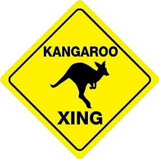 Kangaroo Funny Novelty Crossing Sign