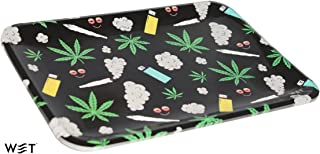 Rolling Trays (6 Pack), Medium, Great for Parties, Reusable Food Grade Paper Plate Material (Doobies)