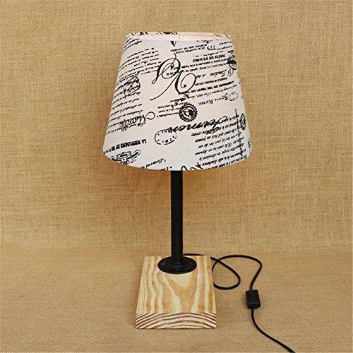 Lampe de Table Industrial Retro Art en bois Tubes d'eau Lampe de table Creative Vintage Desk Light pour salon Chambre Bar Hall Pub Bureaux Café Décoration Lampadaire de toilette, I