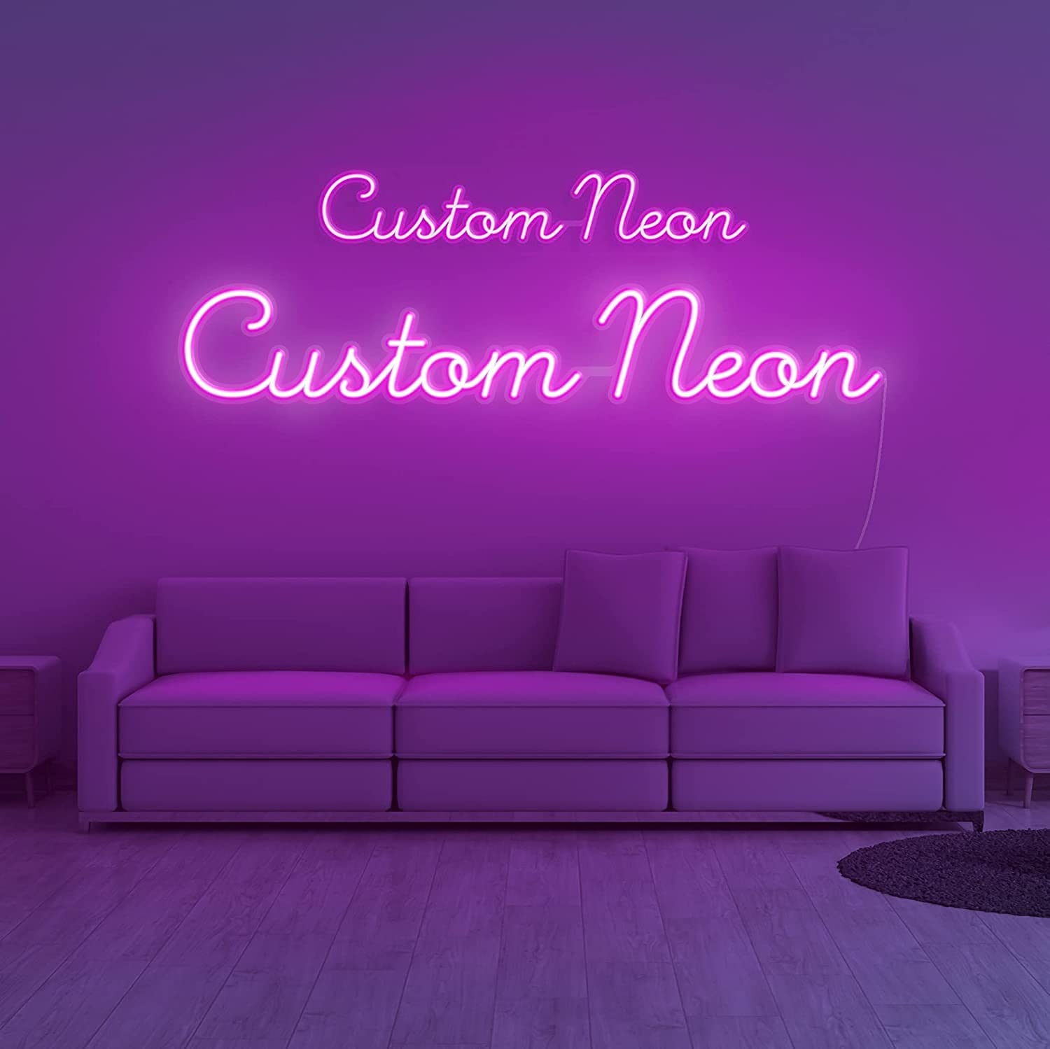 Quantity limited Vibez Customized Very popular Neon Sign: Create Your Own A Colorful Wall Logo