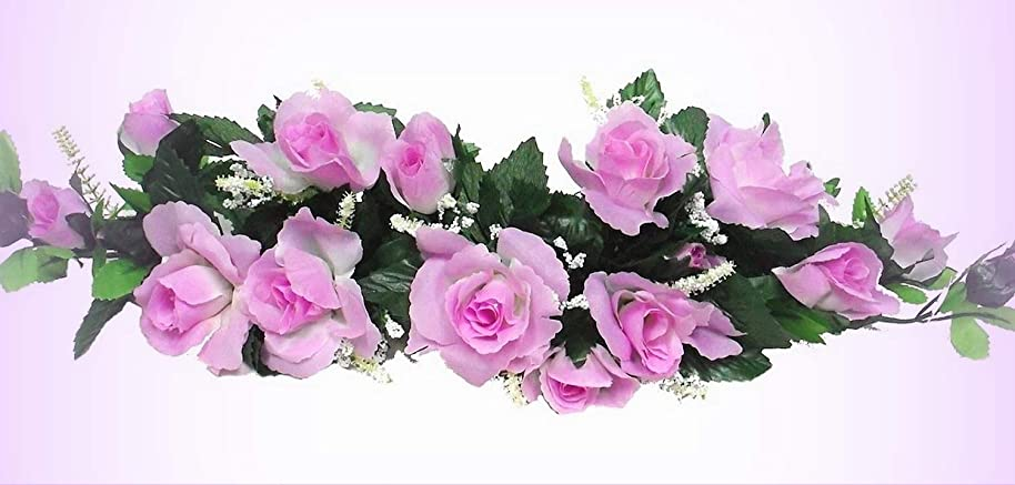 Inna-Wholesale Art Crafts New Lavender Lilac Swag Silk Roses Centerpiece Decorating Flowers Arch Gazebo Pew Decor - Perfect for Any Wedding, Special Occasion or Home Office D?cor