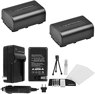 NP-FV50 Battery 2-Pack Bundle with Rapid Travel Charger and UltraPro Accessory Kit for Select Sony Cameras Including HDR-XR150, HDR-XR160, HDR-XR260V, HDR-XR350, and HDR-XR550