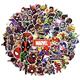 Juego de 100 Pegatinas de Superhéroes Marvel Vinilos para niños,Pegatinas de Coche para Snowboard, Laptop,teléfono Mac, Equipaje, Pegatinas de Graffiti Parches