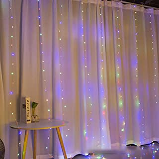 Yaosh Kurtyna LED sznur światełek zdalne sterowanie łańcuch świetlny z 8 trybami zdalne złącze USB Nowy Rok Boże Narodzeni...