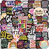 Inspirational Stickers for Laptop 100 Pack Motivational Stickers for Teens Students Teachers Employees Vinyl Waterproof Durable Sticker Decals for Hydroflasks Computer