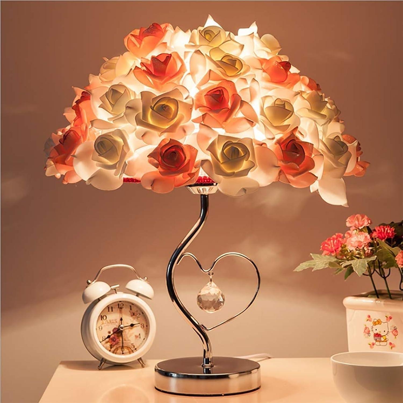 WMM-table lamp Moderne Stil Schreibtischlampe, Art Deco Tischlampe Herzform Tischlampe Blaume Deco Licht für Mdchen, Hochzeitszimmer