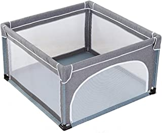 YEHL Playpen Gray Infant Play Yard  Children s Game Fence 4-Panel  Strong and Durable Play Pen  70cm Tall