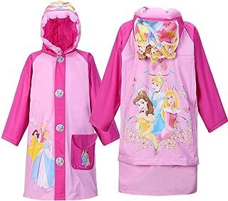 Princess Baby Kids Girls Rainproof Long Raincoat Poncho Rain Slicker - Toddler