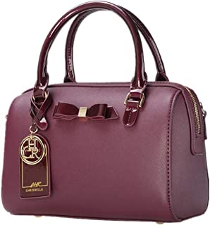 CHRISBELLA Medium Tote Crossbody Bag for Women Stylish Premium Top Handle Satchel Handbag with Bowknot