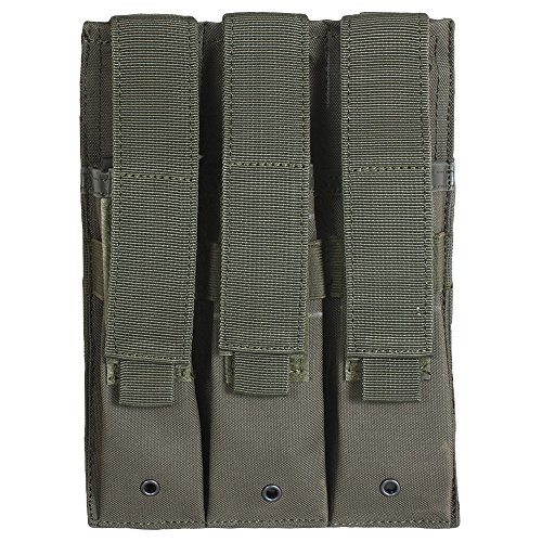 Fox Outdoor Triple MP 5 Mag Pouch Olive Drab