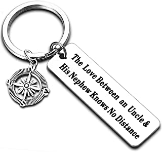 Long Distance Relationships Gifts for Uncle Niece Nephew Uncle Gifts Niece Keychain Nephew Keyring Charms Key Chains (The ...