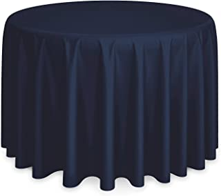 120 inch round tablecloth navy