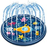 Jozo Outdoor Sprinkler Water Toys for Kids and Toddlers 68', Kids Summer Splash Pad Toys for 1 2 3 4 5 6 7 8 Year Old Boys and Girls