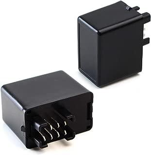 iJDMTOY (1) 7-Pin Plug-N-Play Electronic LED Flasher Relay Hyper Flash Fix For Suzuki Motorcycle Bike Installing LED Turn Signal Bulbs