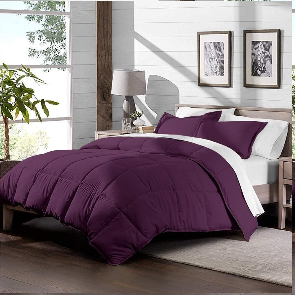 Tanya Linen Max 85% OFF 3 OFFicial site Piece Queen Comforter Set with Wine XL 2 Full