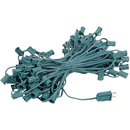 Ezls Black C7 Light Strand Spt 1 50ft Black Wire 50 Sockets Amazon Com