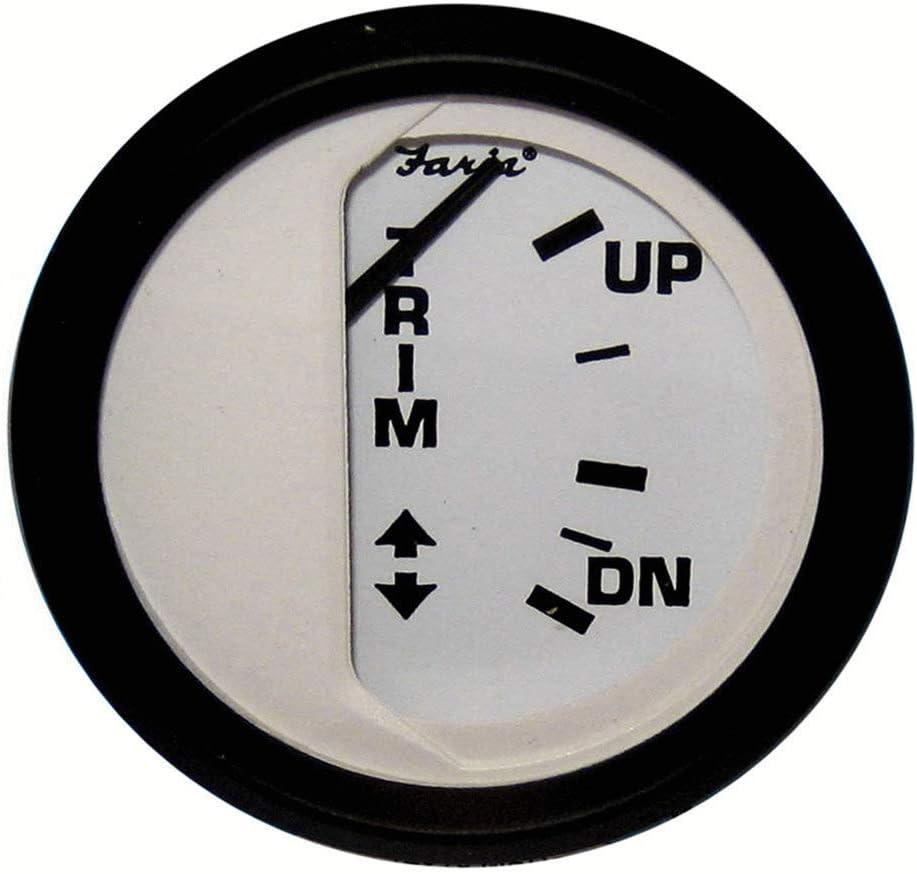 "Faria Beede Instruments 12901 Euro White 2/"" Fuel Level Gauge E-1//2-F"