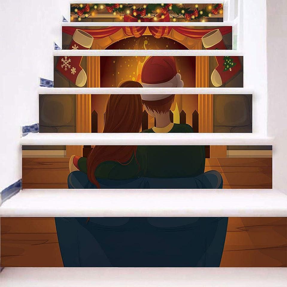 クリップ蝶成分郵便屋さんA69Qウォールステッカー 階段ステッカー クリスマス 壁用シール ウォールアートリビングルーム 寝室の装飾 家の装飾 幼稚園 保育園 学校に適用 6pcs /セット18*100cm