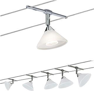 Paulmann 941.43 Colmar Système d'éclairage LED sur câble - Ensemble d'éclairage sur fil de tension avec 5 spots suspendus,...