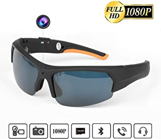 Bluetooth Sunglasses Camera Built-in 32GB Memory Card 1080P HD Outdoor Sports Camera Video Recorder with UV Protection Polarized Lens for Climbing Riding Fishing Motorcycle and Outdoor Sports