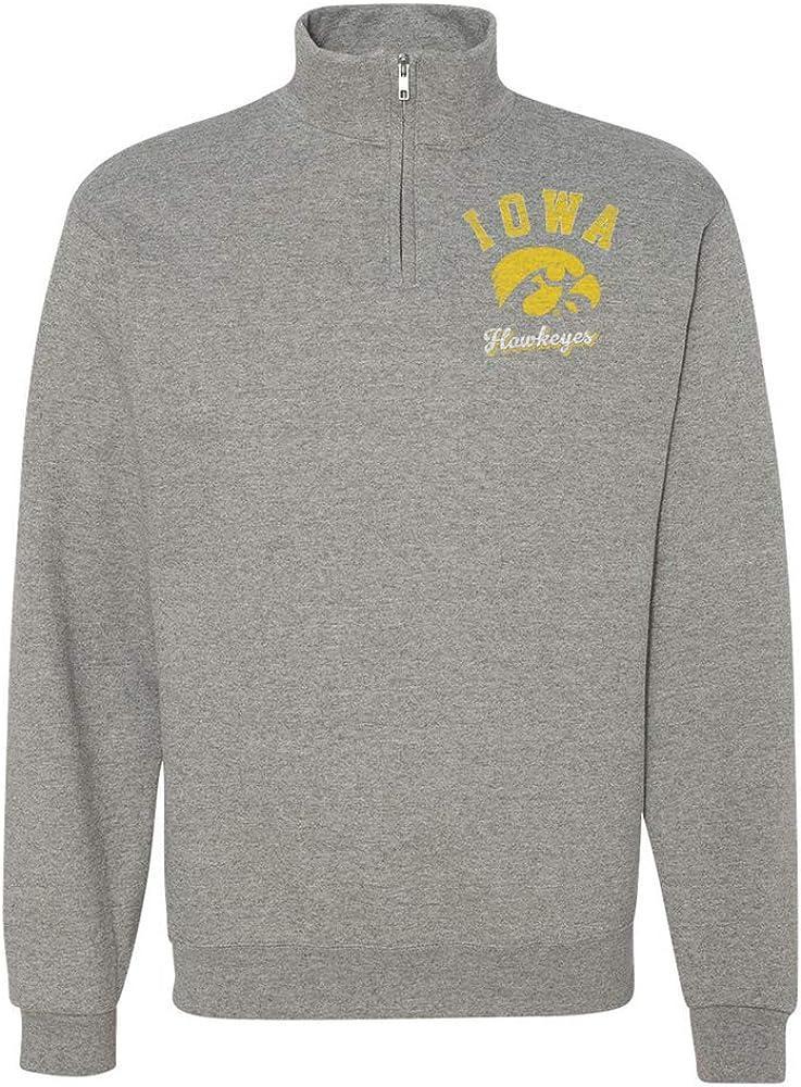 Official NCAA University of Iowa New York Mall Quarter-Zip Swe Hawkeyes Fees free!! Unisex