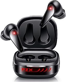 【ワイヤレス充電&Bluetooth5.1】 Bluetooth イヤホン 自動ペアリング 蓋を開けたら瞬時接続 Hi-Fi ブルートゥース イヤホン マイク内蔵 QI対応 cvc8.0ノイズキャンセリング&AAC対応 ハンズフリー通話 Sir...