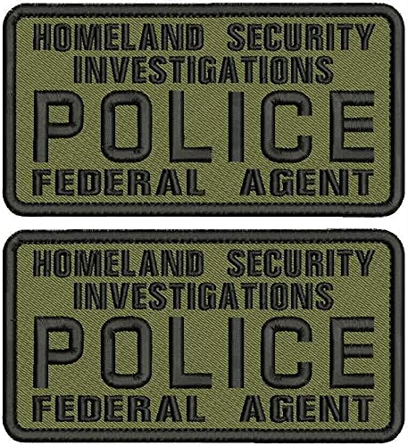 Embroidered Patch - Outlet SALE Patches for Women S Federal Man I Police quality assurance H
