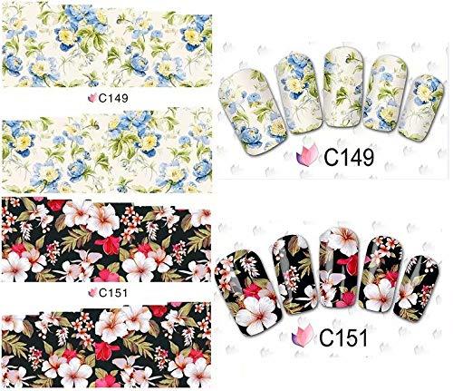 5 pcs Nail Art Stickers Set Autocollants à Ongles Stencils à Ongles pour Nail Art Design (Envoyé au hasard par C148 C149 C150 C151 C152 C156 C157 C162)