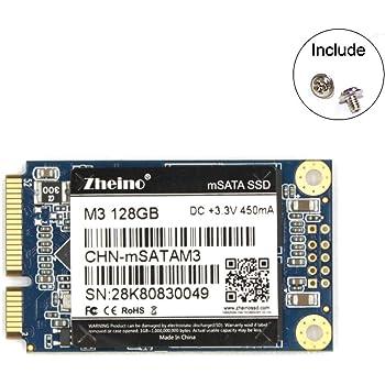 Zheino M3 内蔵型 mSATA 128GB SSD (30 * 50mm) mSATAIII 3D Nand 採用 6Gb/s mSATA ミニ ハードディスク