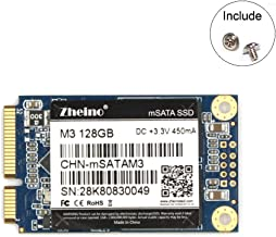 Zheino mSATA SSD 128GB M3 Internal mSATA Drive 3D Nand Flash Solid State Drive for Mini PC Notebooks Tablets PC