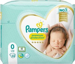 Pampers Premium Protection Maat 0 (<3kg), x24 Luiers, Zachtste Comfort En Beste Huidbescherming Van Pampers
