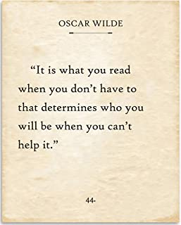 Oscar Wilde - It Is What You Read When You Don't Have To - 11x14 Unframed Typography Book Page Print - Great Gift and Decor for Library, Classroom and Home Under $15