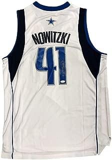 Dirk Nowitzki Dallas Mavericks Home White Autographed Signed Jersey JSA