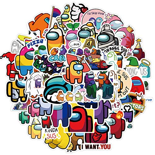 Among us Popular Game Products, Very Cute Stickers, can be Pasted Anywhere You Want.(50Pcs)-d