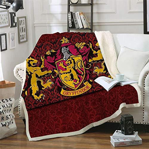 KOQTO Couvertures Throw épais pour Adultes Enfants, Harry Potter Couverture en Molleton Super Soft Sherpa Couvre-lit Couverture pour lit et canapé,1,150 * 200CM