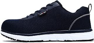 Men's Steel Toe Work Safety Shoes Lightweight Anti-Smashing Casual Sneaker