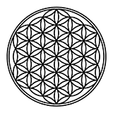 PPS. Imaging Glas-Decor Flower of Life, Farbe: Frosted; Maße: 35cm x 35cm