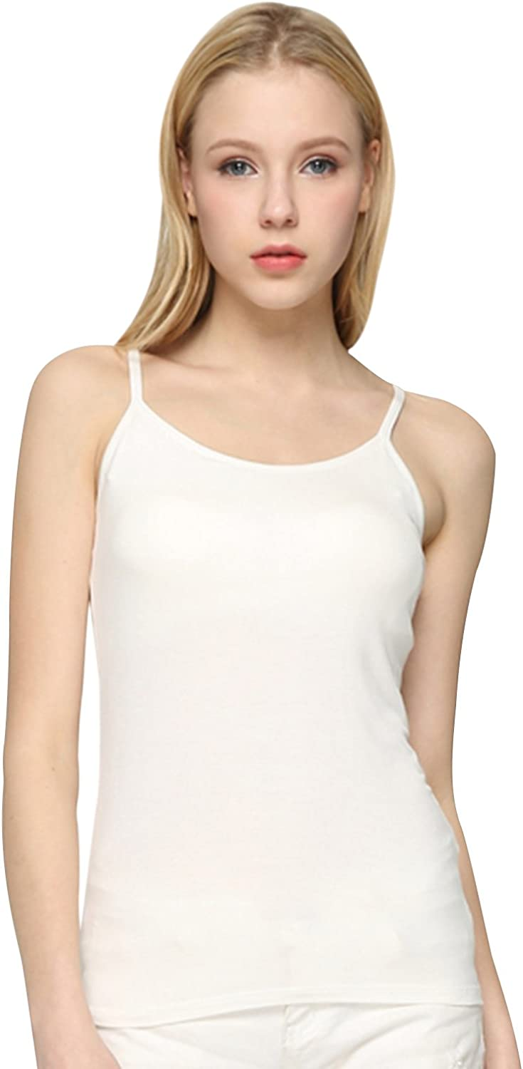 Alizeal Women Modal Camisole with Built in Shelf Bra Solid color Vest Yoga Top