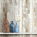 RoomMates - Papel pintado autoadhesivo de madera envejecida para pelar y pegar | Papel pintado extraíble | Papel pintado autoadhesivo, madera rústica